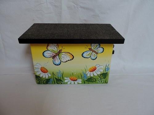 Poštovní schránka dřevěná-louka