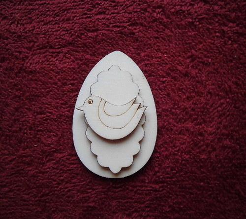 3D zápich na špejli vejce+ptáček -3ks