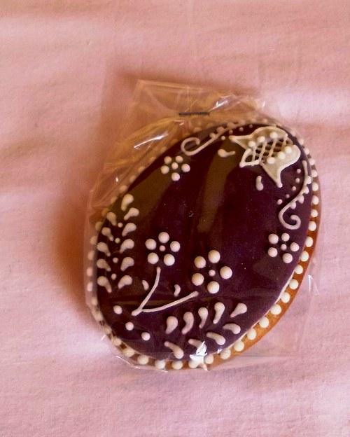 velikonoční vajíčko /ZVONEČEK-fialové