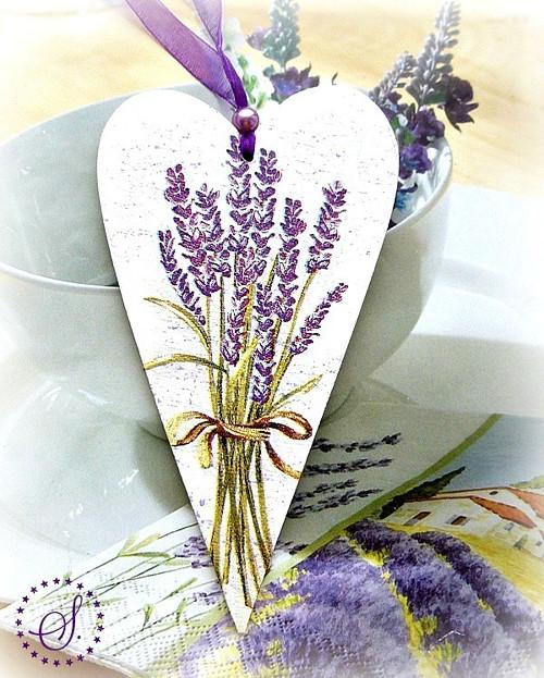 srdíčko - kytice levandule