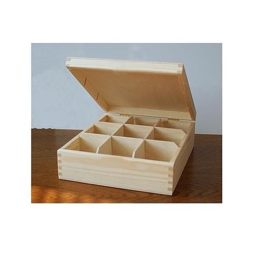 Krabička na čaj - 9 komor BZ(PHU-CAJOVKA-9-BZ)