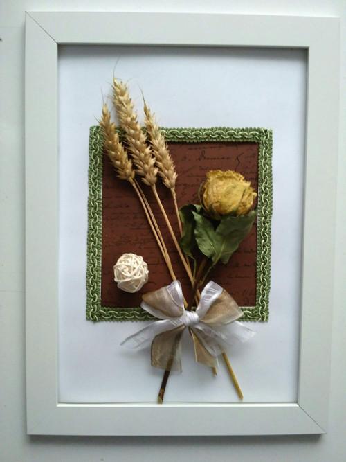 Vintage obrázky ze sušených květin
