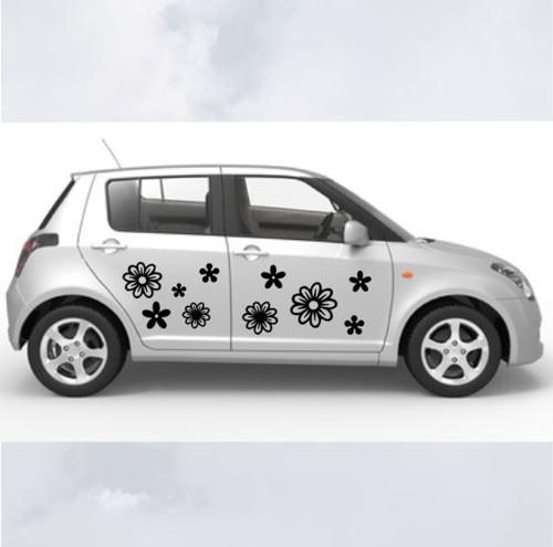 Samolepka na auto - směs kytiček