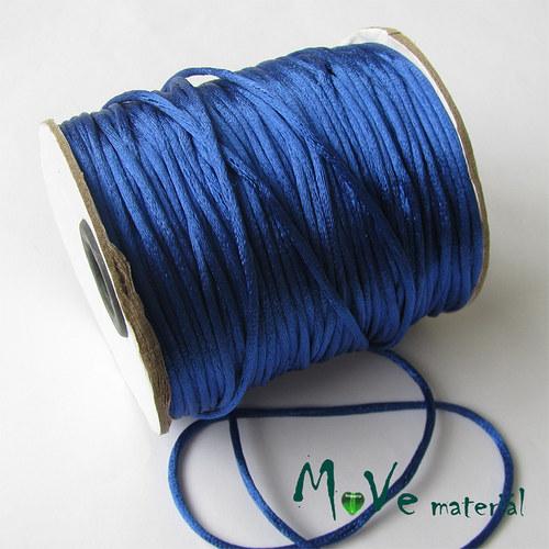 Šňůra Ø2mm saténová, zářivě modrá, 1m