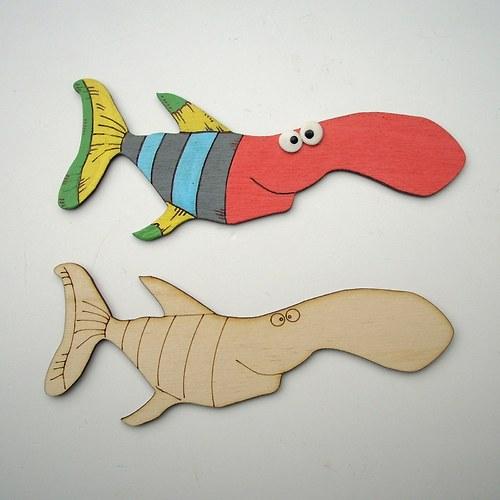 Vybarvi si pruhovanou rybu...  RV001