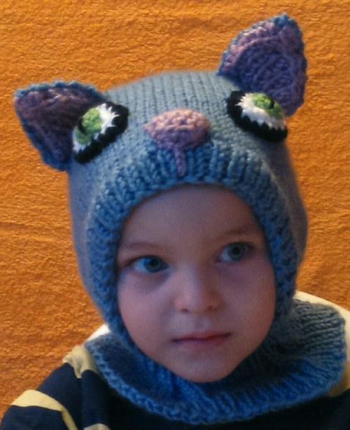 Dětská zimní kukla Modrý Kocourek