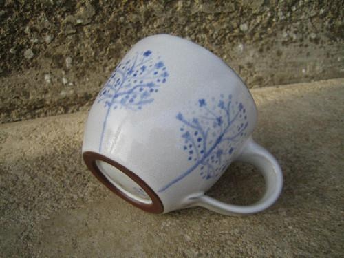 Hrnek modrobílý - Jaro v sadu