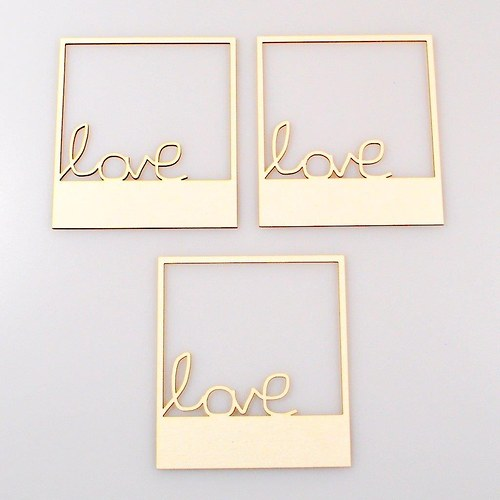 Chipboards Wycinanka / Rámečky LOVE