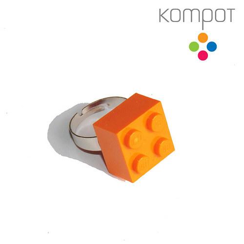 LEGO PRSTEN :: oranžový