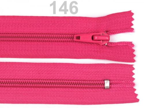 zip růžový  18cm
