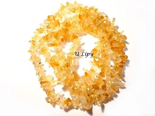 Minerální zlomky 90 cm - citrín
