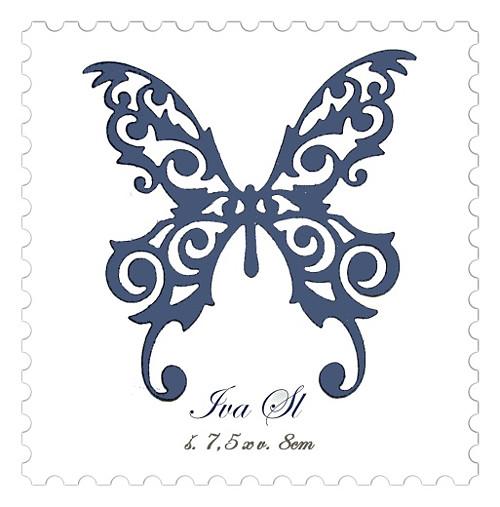 Motýl krajkový