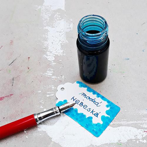 Inkoust - modrá nebeská