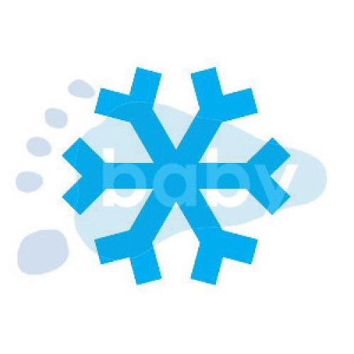 Razítko sněhová vločka 3 x 3