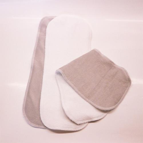 Vkládací pleny - šedá/bílá