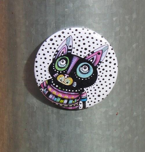 Kosmická kočka... magnet VELKÝ
