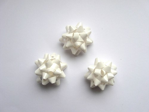 Mašlička - bílá 3ks (4cm)
