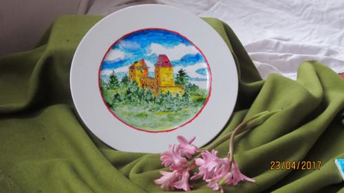 Malovaný talíř Kašperk