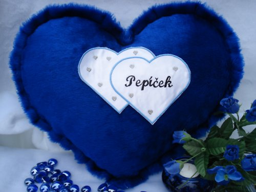 Polštář srdce Pepíček
