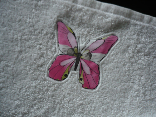 Ručník dětský-Růžový motýl
