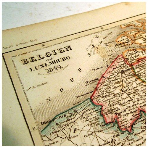 Historická mapa z roku 1850 BELGIE A LUXEMB č.1063
