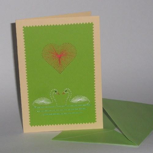 Labutě - zelené