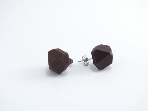 Náušnice krystal brown