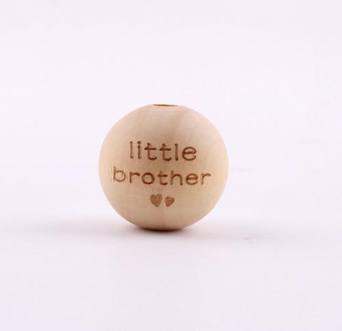 Dřevěné korálky 16mm (2ks) - LITTLE BROTHER
