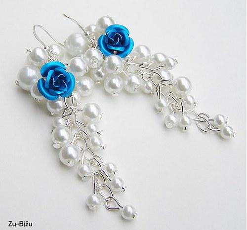 Modré ružičky