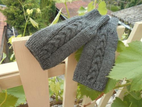 Rukavice návleky šedé