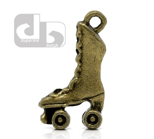 Bronzový přívěšek kolečkových bruslí 2 ks