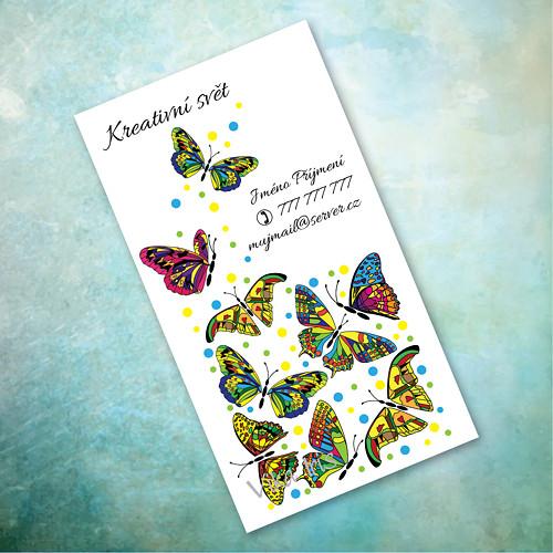 Motýli v kostce 6 - vizitky 200 ks
