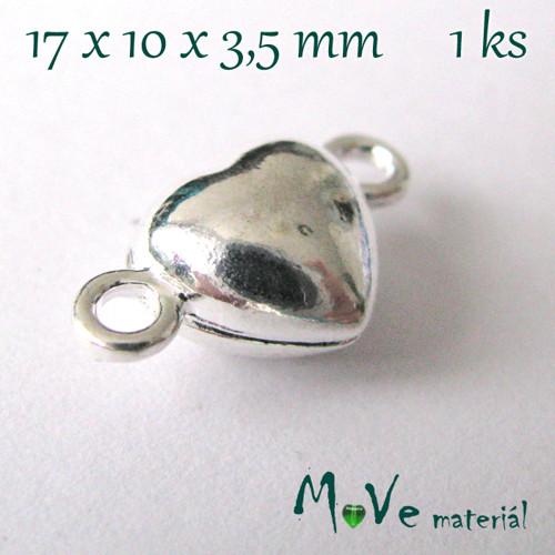 Zapínání magnetické 17x10mm 1ks, stříbrné