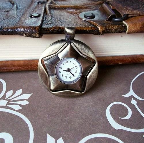 Vintage hodinky hvězda (otočná)