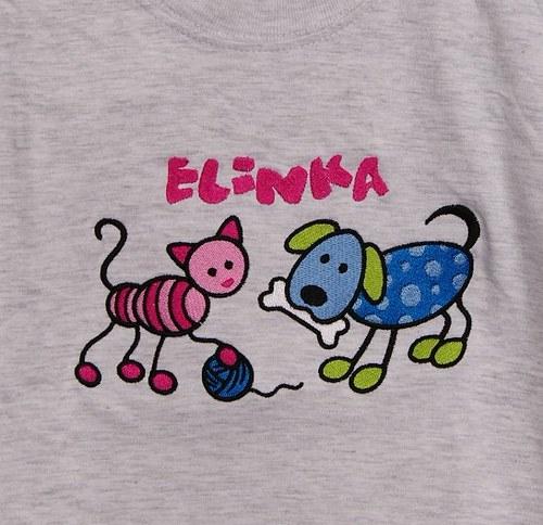Dětské tričko + pes + kočka + jméno:)