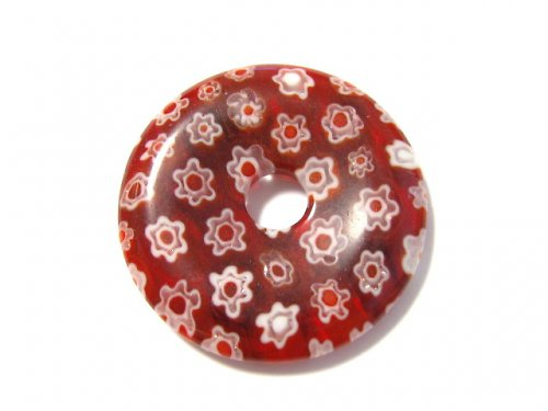 1104032/Donut rubínový, 30 mm, 1ks