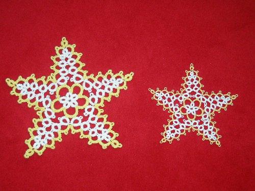 Frivolitkované hvězdičky