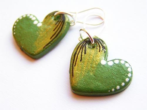 Zelená srdíčka