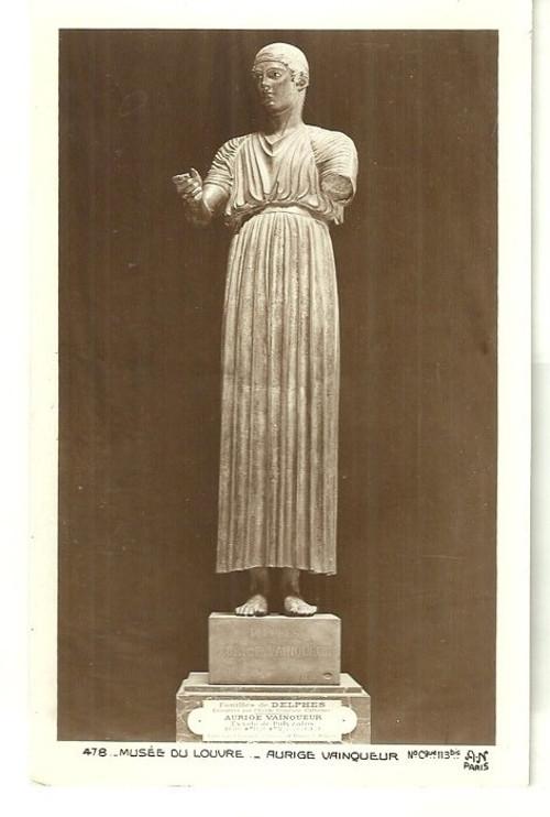 Umělecká pohlednice Museum Louvre socha