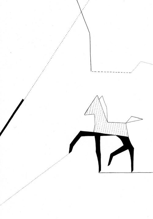 Le Cheval Géométrique - Poulain