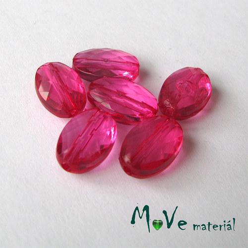 Korálek plast šváb 10x15mm, 6ks, růžový