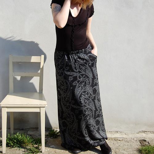 Dámská sukně Zorba - perlová černá