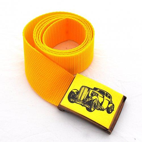 Opasek auto - žlutá