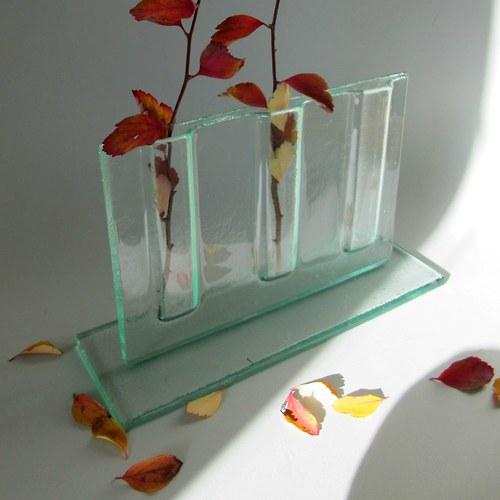 Originální skleněná váza s dutinami