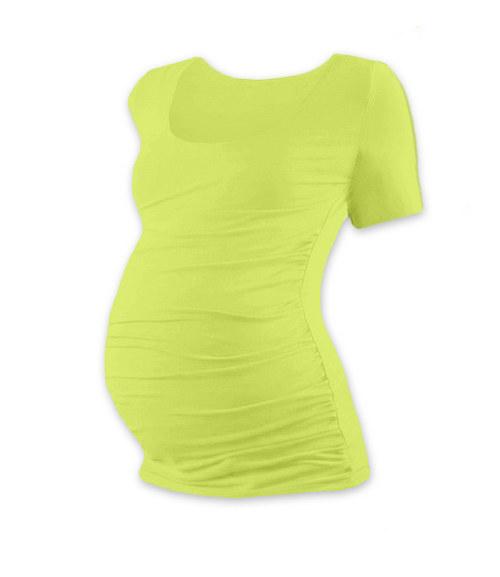 Těhotenské tričko KR světle zelené
