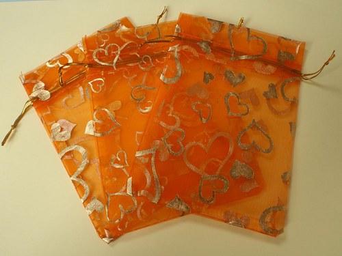 Organzové sáčky oranžové