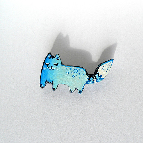 S modrými puntíky - originál