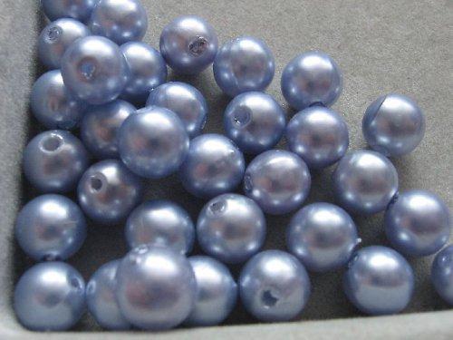 Voskové korálky - světle modrá  8 mm / 25 ks