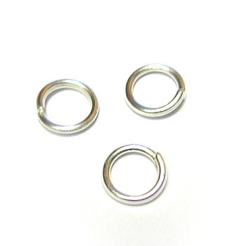 Kroužek 7 mm - stříbrný - 4000 ks