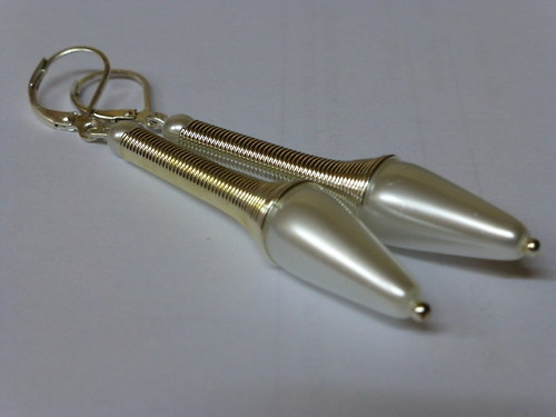 Náušnice - perličkové paličky